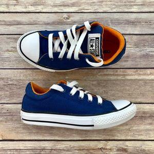 Converse: Blue/Orange Street Slip Shoes